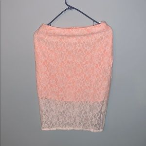 Lacey pink skirt ASOS new no tags size 4